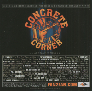 Power play records product listing concrete corner inked july sampler 2005 - Cd concreet ...